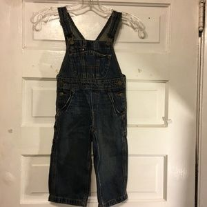Oshkosh B'gosh Denim Cargo Overall Sz 2 Toddler
